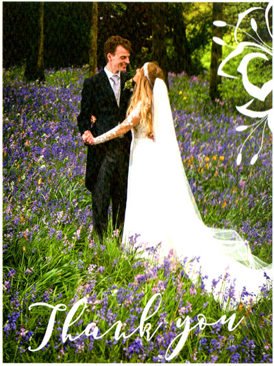 Bride & Groom in a bluebell wood